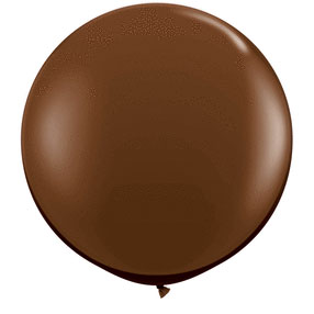 36IN. CHOCOLATE BROWN BALLOON (2CT/PKG) PARTY SUPPLIES