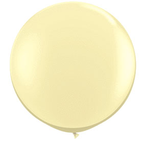 36IN. IVORY LATEX BALLOON LATEX(2CT/PKG) PARTY SUPPLIES