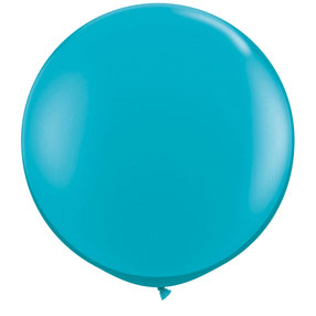 36IN. TROPICAL TEAL BALLOON  (2CT/PKG) PARTY SUPPLIES