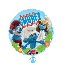 DISCONTINUED SMURFS HAPPY BIRTHDAY MYLAR PARTY SUPPLIES