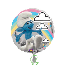 Click for larger picture of SMURFS MYLAR BALLOON PARTY SUPPLIES