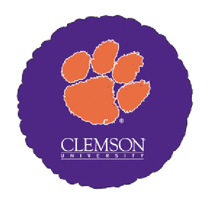 18IN. CLEMSON UNIV MYLAR BALLOON (5/CS) PARTY SUPPLIES