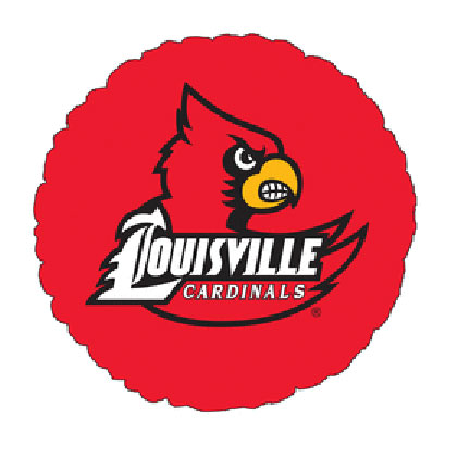 18IN. UNIV OF LOUISVILLE MYL BLN (5/CS) PARTY SUPPLIES