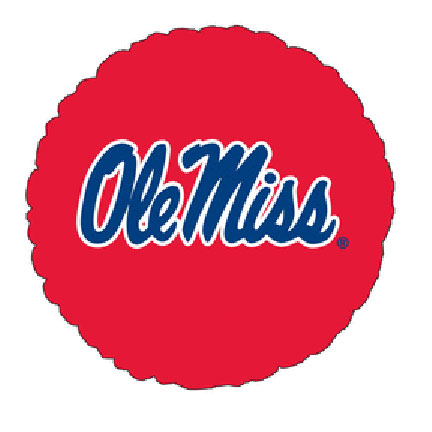 18IN. UNIV OF MISSISSIPPI MYL BLN (5/CS) PARTY SUPPLIES