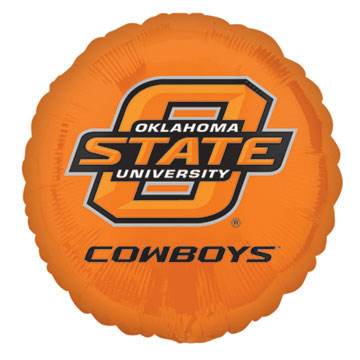 18IN. OKLAHOMA STATE MYLAR BALLON (5/CS) PARTY SUPPLIES