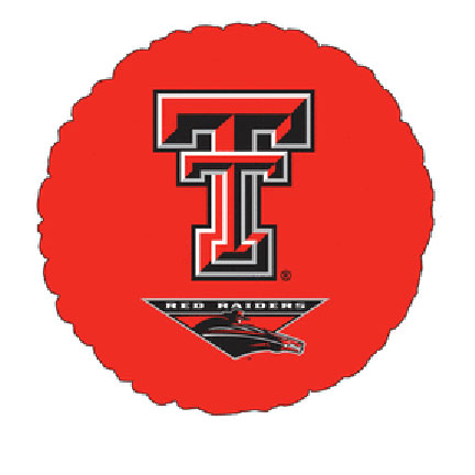 18IN. TEXAS TECH MYLAR BALLOON (5/CS) PARTY SUPPLIES