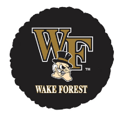 18IN. WAKE FOREST MYLAR BALLOON (5/CS) PARTY SUPPLIES
