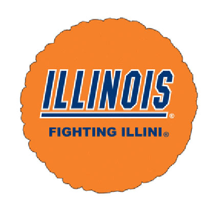 18IN. U OF ILLINOIS MYLAR BALLOON (5/CS) PARTY SUPPLIES