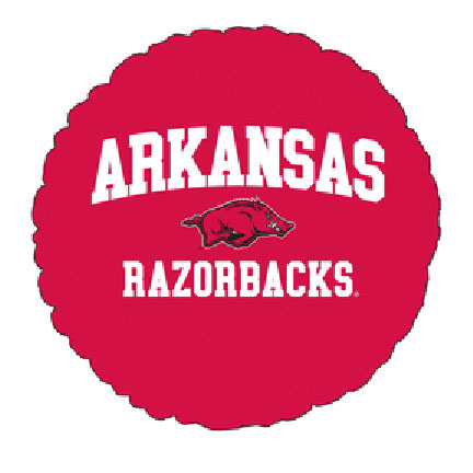 18IN. U OF ARKANSAS MYLAR BALLOON (5/CS) PARTY SUPPLIES