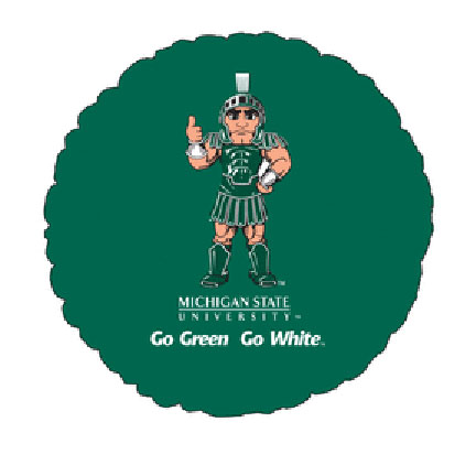 18IN. MICHIGAN STATE MYLAR BALLON (5/CS) PARTY SUPPLIES