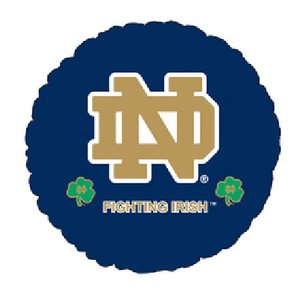 18IN. UNIV OF NOTRE DAME MYL BLN (5/CS) PARTY SUPPLIES