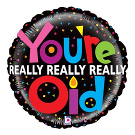21 IN. MIGHTY OLD BIRTHDAY (5/CS) PARTY SUPPLIES