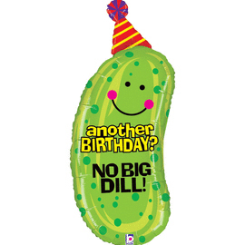37 IN. NO BIG DILL BIRTHDAY SHAPE (5/CS) PARTY SUPPLIES