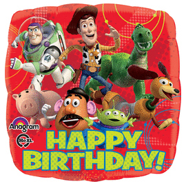18 IN. TOY STORY GANG HAPPY BDAY (5/CS) PARTY SUPPLIES