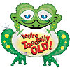 33IN. TOADALLY OLD SHAPE MYL BLN (5/CS) PARTY SUPPLIES