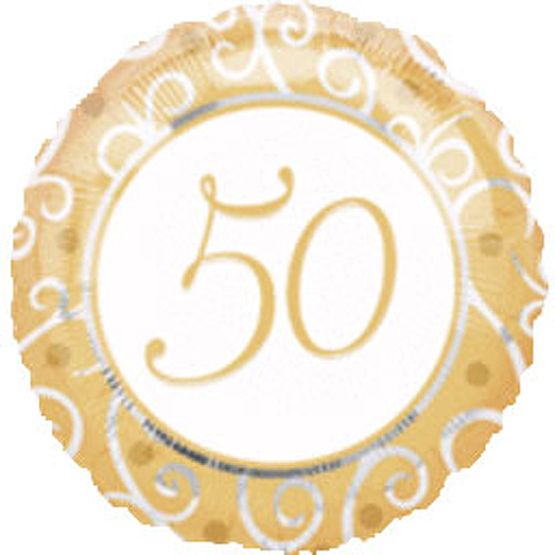 Click for larger picture of 50TH ANNIVERSARY MYLAR BALLOON PARTY SUPPLIES