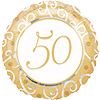 50TH ANNIVERSARY MYLAR BALLOON PARTY SUPPLIES