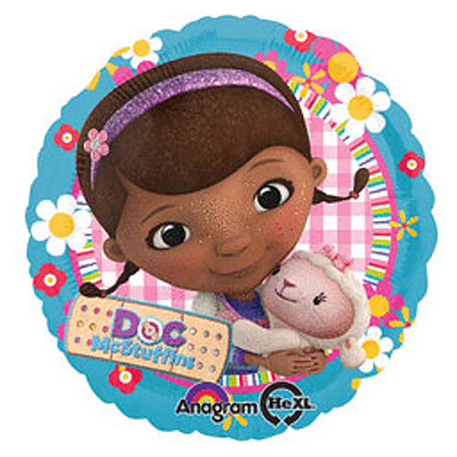 Click for larger picture of DOC MCSTUFFINS MYLAR BALLOON PARTY SUPPLIES
