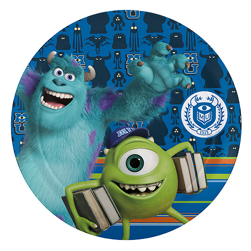 Click for larger picture of DISCONTINUED MONSTERS U SOUVENIR PLATE PARTY SUPPLIES