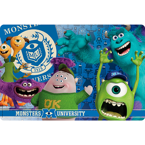 Click for larger picture of DISCONTINUED MONSTERS U PLASTIC PLACEMAT PARTY SUPPLIES