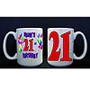 PERSONALIZED 21ST BALLOON MUG PARTY SUPPLIES