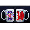 PERSONALIZED 30TH BALLOON MUG PARTY SUPPLIES