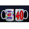 PERSONALIZED 40TH BALLOON MUG PARTY SUPPLIES