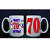 PERSONALIZED 70TH BALLOON MUG PARTY SUPPLIES