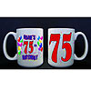 PERSONALIZED 75TH BALLOON MUG PARTY SUPPLIES