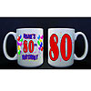 80TH PERSONALIZED BALLOON MUG PARTY SUPPLIES