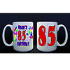 PERSONALIZED 85TH BALLOON MUG PARTY SUPPLIES
