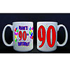 PERSONALIZED 90TH BALLOON MUG PARTY SUPPLIES