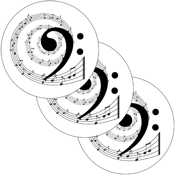 MUSIC BASS CLEF DECO FETTI PARTY SUPPLIES