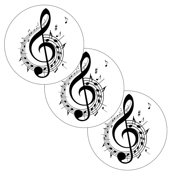 MUSIC TREBLE CLEF STICKER PARTY SUPPLIES