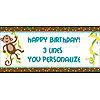 PERSONALIZED MONKEY BANNER18