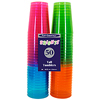 10 OZ. NEON PLASTIC TUMBLERS (50/PKG) PARTY SUPPLIES