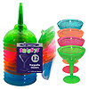 12OZ NEON MARGARITA GLASSES (12/PKG) PARTY SUPPLIES