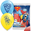 SUPERMAN PRINTED LATEX BALLOONS (6/CT) PARTY SUPPLIES