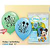 MICKEY'S 1ST PRINTED LATEX BALLOONS 6/PK PARTY SUPPLIES