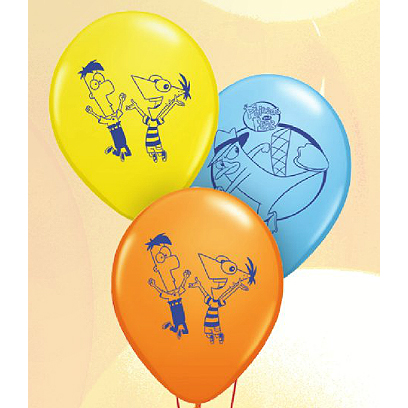 Click for larger picture of PHINEAS & FERB LATEX BALLOONS 6CT. PARTY SUPPLIES