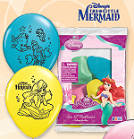 LITTLE MERMAID PRINTED LATEX BALLOON 6/P PARTY SUPPLIES