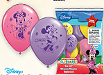 MINNIE MOUSE PRINTED LATEX BALLOON (6/PK PARTY SUPPLIES