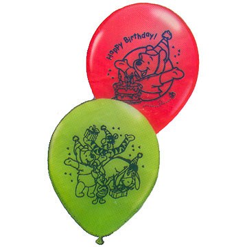 POOH HAPPY BIRTHDAY LATEX BALLOON PARTY SUPPLIES