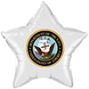 US NAVY CLASSIC WHITE STAR BALLOON PARTY SUPPLIES