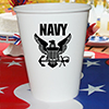 US NAVY CUPS  8/PKG PARTY SUPPLIES