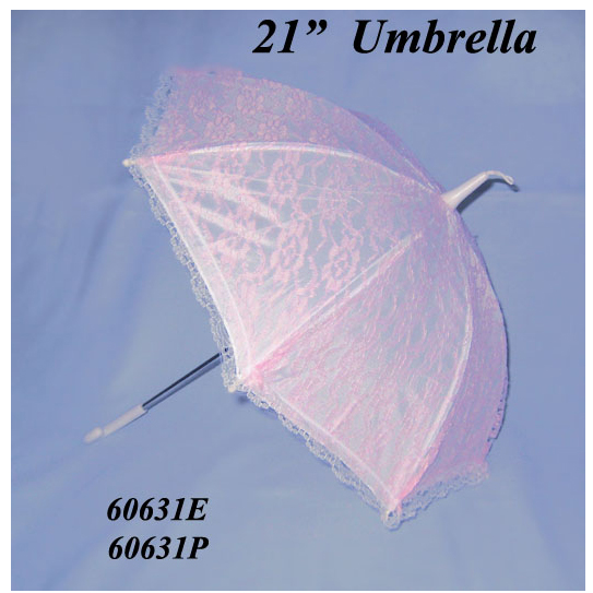 Click for larger picture of PINK LACE UMBRELLA (21 in.) PARTY SUPPLIES