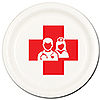 NURSE DESSERT PLATE 8/PKG PARTY SUPPLIES