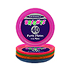 6 INCH NEON PLASTIC PLATES - COMBO PACK PARTY SUPPLIES