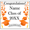 ORANGE MORTARBOARD GRAD DOOR BANNER PARTY SUPPLIES