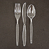 CLEAR PLASTIC KNIFE (600/CS) PARTY SUPPLIES
